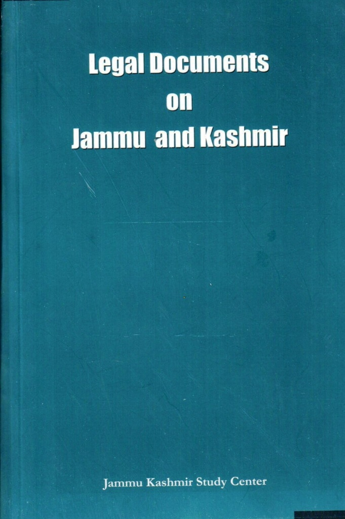 Legal Documents on Jammu and Kashmir